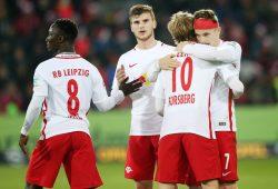 Keita, Werner und Forsberg sind gegen Hertha wohl an Bord. Foto: GEPA Pictures