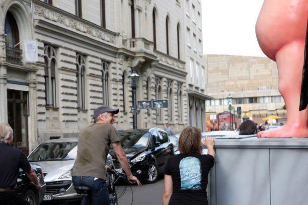 Statt Irritation gabs auch oft ein wissendes Lachen in Leipzig