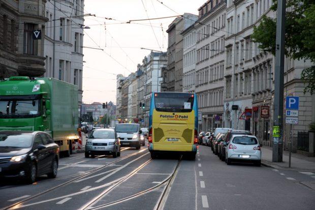 Straßenbahnen auch ohne Straßenbahnen gut gefüllt. 15.550 am Tag. Foto: LZ