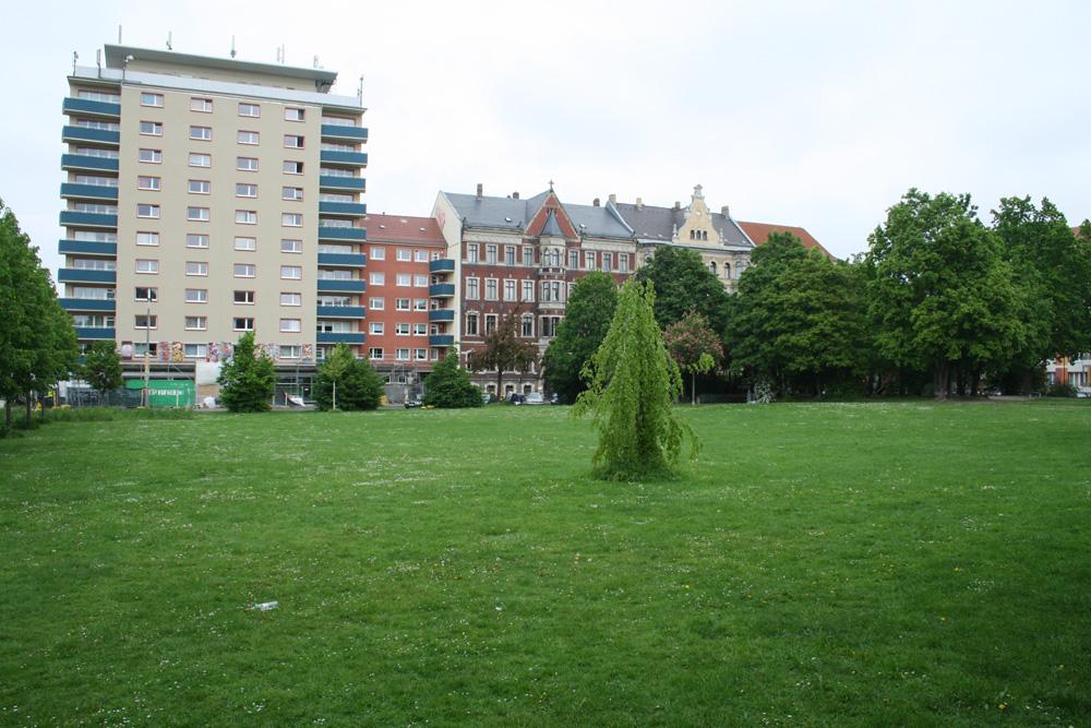 Alexis-Schumann-Platz. Foto: Ralf Julke