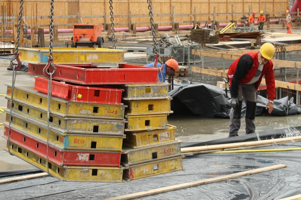 Auch das Bauhandwerk hat Hochkonjunktur. Foto: Ralf Julke