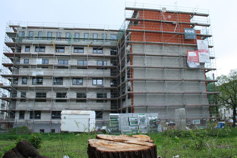 Wohnungsbau in Connewitz. Foto: Ralf Julke