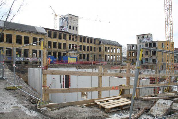 Wohnungsbau in der Scheffelstraße. Foto: Ralf Julke