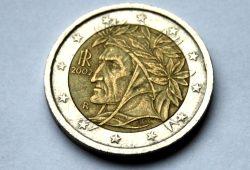 Dante auf dem italienischen Euro. Foto: Ralf Julke