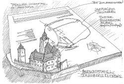 Skizze für die Tafel auf dem Eilenburger Burgberg. Foto: Stadtverwaltung Eilenburg