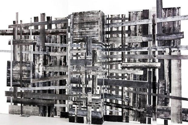 Wolfgang Ellenrieder: Latten, 2012. Foto: Josef Filipp Galerie