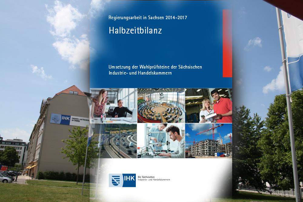 Halbzeitbilanz der sächsischen IHK. Montage: L-IZ