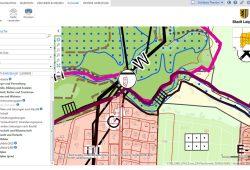 Digitale Stadtkarte mit FFH-Grenze (violett) und SPA-Grenze (bordeaux). Karte: Stadt Leipzig, Screenshot: L-IZ