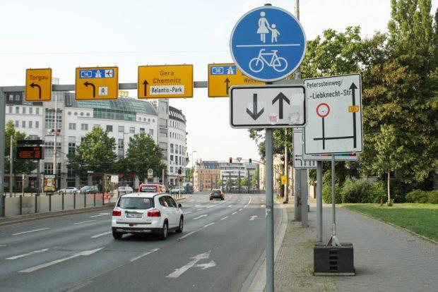Martin-Luther-Ring: Ab 2020 dürfen Radfahrer hier wohl im Mischverkehr mitfahren. Foto: Ralf Julke