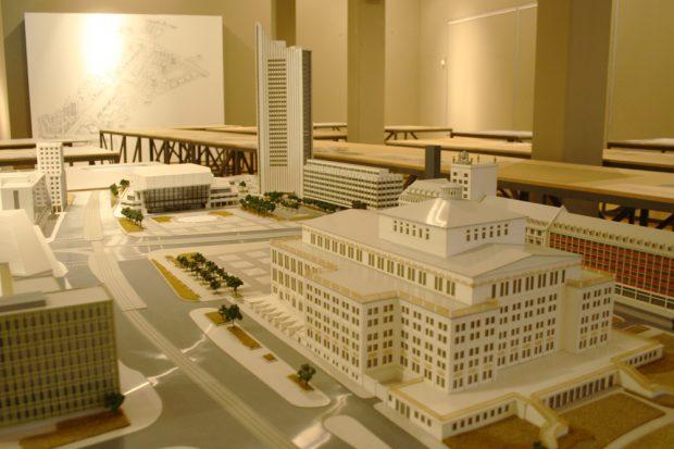 Modell des Augustusplatzes. Foto: Ralf Julke