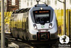 S 6 nach Merseburg. Bildmontage: Ökolöwe