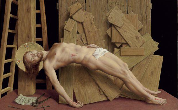 Michael Triegel: Am Kreuz (2008). Foto: Galerie Schwind