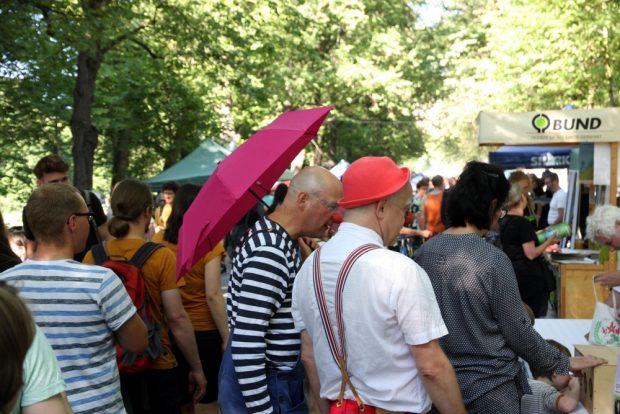 Neben dem Spaß auf der Ökofete arbeitet der Ökolöwe ständig am Umweltschutz in Leipzig. Foto: L-IZ.de