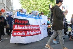 Demo gegen Abschiebungen nach Afghanistan im Juni 2017. Foto: L-IZ.de