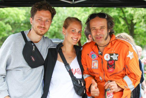 Das Organisationsteam des Jugendevents: Sascha Golais, Maria Urban und Robert Schiller (v.l.). Foto: Jan Kaefer