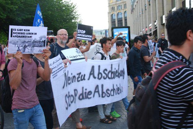 Leipziger Demo gegen Abschiebungen. Foto: L-IZ