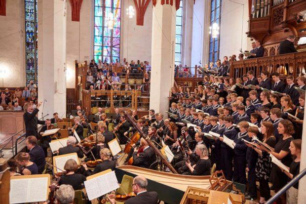 Bachfest Leipzig 2017: Eröffnungskonzert mit dem Thomanerchor in der Leipziger Thomaskirche. Foto: Bachfest Leipzig/www.malzkornfoto.de