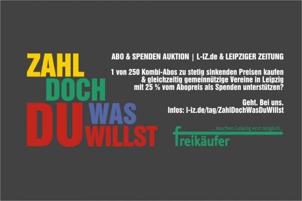 Die Sommer-Auktion der L-IZ & der LEIPZIGER ZEITUNG. Lokaljournalismus abonnieren & Vereinen unter die Arme greifen.