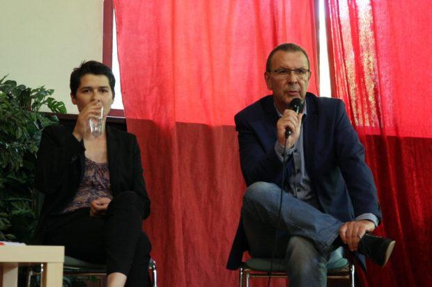 Kein leichter Stand für die CDU. Daniela Kolbe (SPD, MdB) und Achim Haas (CDU, Stadtrat). Foto: L-IZ.de