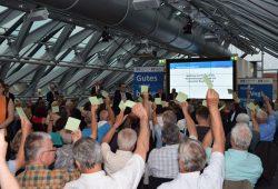 Die Vertreterversammlung der Leipziger Volksbank stimmt über die Fusion ab. Foto: Leipziger Volksbank