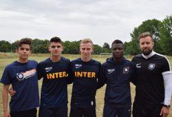 Ein Teil des FUTURE-Teams - ganz links: Panagiotis Mitsopoulos, der nach Dresden verliehen wird. Foto: FC Inter Leipzig