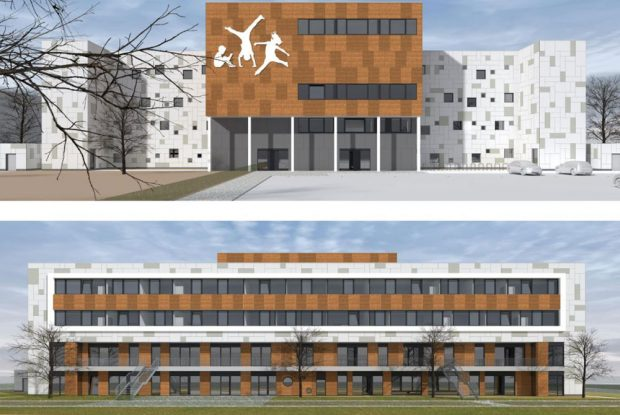 So soll der Neubau in der Curiestraße einmal aussehen. Foto: LESG, Raphael Reska