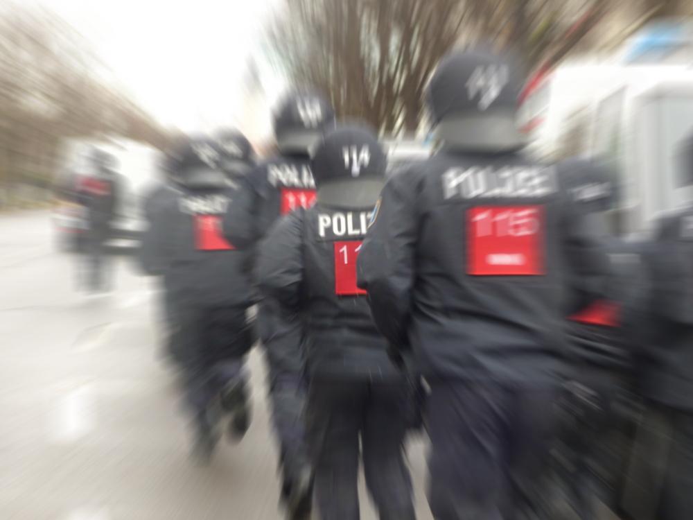 Polizeieinsatz. Foto: Lucas Böhme