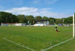 Das Hafenstadion in Torgau ist die neue Heimspielstätte des FC Inter Leipzig. Foto: Marko Hofmann