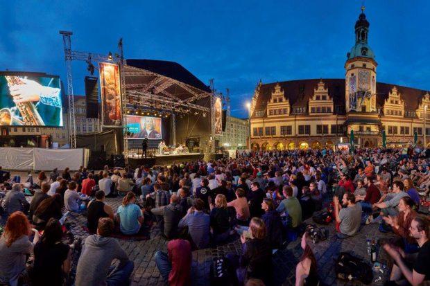 Bachfest Leipzig 2017: Bach Open Air auf dem Leipziger Markt. Foto: Bachfest Leipzig/www.malzkornfoto.de