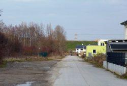 Verlängerte Heiterblickallee als künftiger Radweg. Foto: ADFC Leipzig