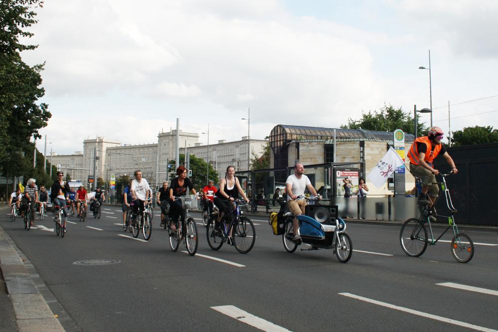 Critical Mass auf dem Innenstadtring. Archivfoto: Ralf Julke