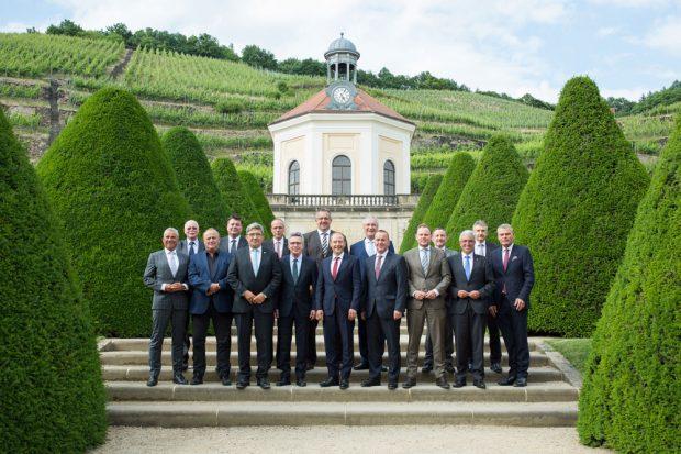 Gruppenfoto der Innenminister und –senatoren. Foto: SMI/Ziehm