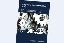 """Die Studie """"Integrierte Kommunikation 2017"""". Cover: Uni Leipzig"""