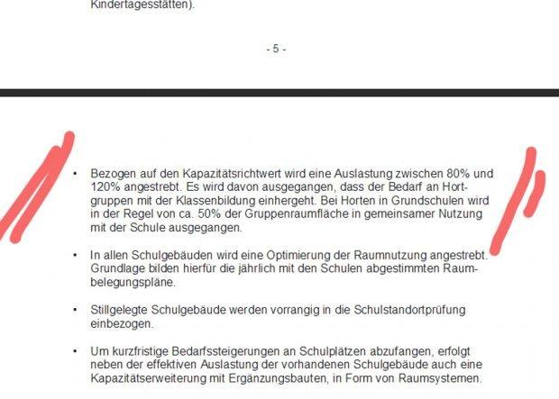 Der Passus im Schulentwicklungsplan 2017. Screenshot: L-IZ