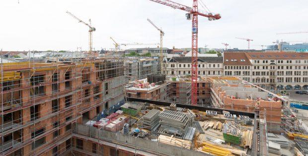 Der 2014 begonnene Wohnungsbau an der Wintergartenstraße. Foto: LWB, Peter Usbeck
