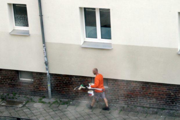 Wisch und weg für IS: Der Maler war da. Foto: Leo Leu
