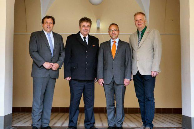 Herr Gröhn, Herr Merbitz, Herr Heilmann, Herr Tollert (von links). Foto: PD Leipzig