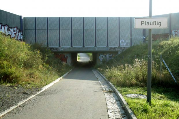 Radweg bei Plaußig. Foto: Ralf Julke