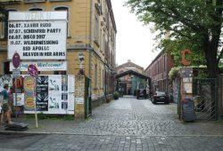 Refugees Welcome: Werk II in Connewitz. Foto: Ralf Julke