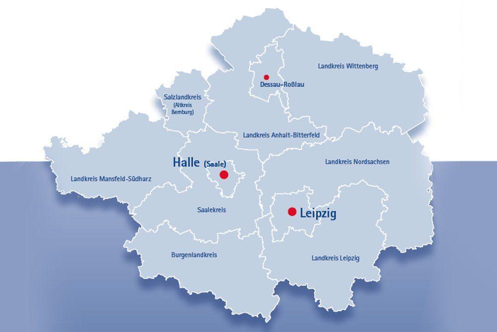 Das Herz der Metropolregion Mitteldeutschland. Grafik: IHK zu Leipzig