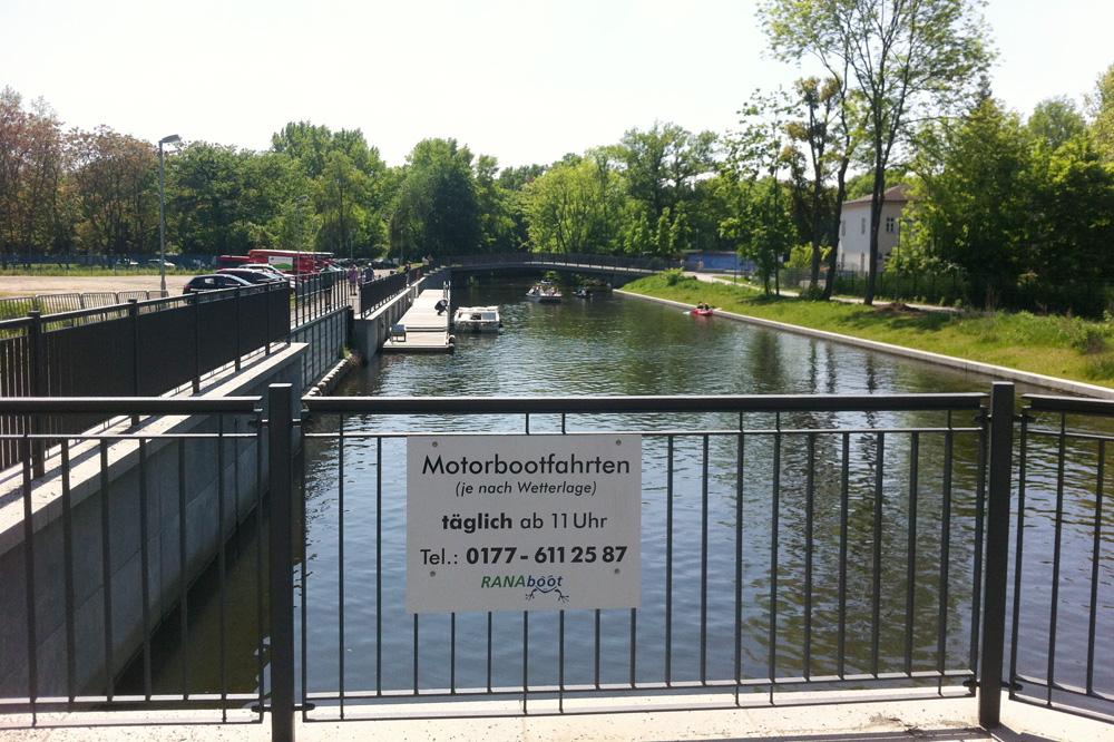 Mole des geplanten Stadthafens Leipzig. Foto: Michael Freitag