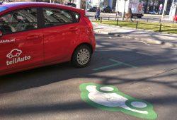 Öffentlicher Parkraum fürs Carsharing. Foto: teilAuto.net