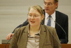 Nicole Wohlfarth im Leipziger Stadtrat. Foto: L-IZ