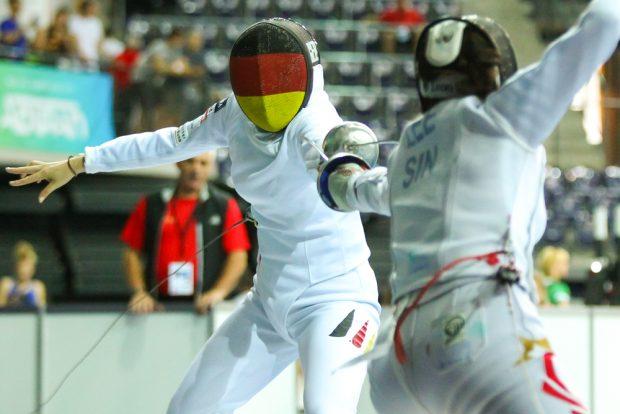 Beate Christmann (Tauberbischofsheim) zog mit einem Sieg gegen Bernardette Jing Fei Lee (Singapore) in die 64er-Runde ein. Foto: Jan Kaefer