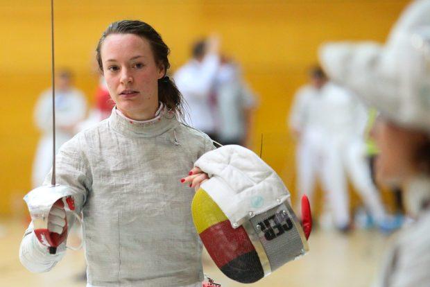 Die neunfache Deutsche Säbel-Meisterin Anna Limbach vom TSV Bayer Dormagen. Foto: Jan Kaefer