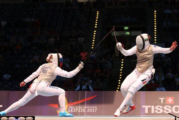 Im Kampf um Bronze starteten die deutschen Florettdamen gegen Russland gut, mussten sich dann aber doch deutlich geschlagen geben. Foto: Jan Kaefer