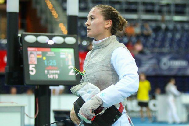 Wie alle deutschen Florett-Damen, schaffte es auch Leonie Ebert (Tauberbischofsheim) in die Runde der letzten 64. Foto: Jan Kaefer