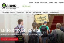 Die neue Website. Foto: BUND Leipzig