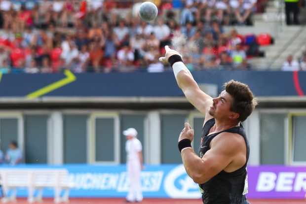 """Für die WM in London verspricht David Storl: """"Ich werde fit und konzentriert sein und auf jeden Fall weiter stoßen als heute"""". Foto: Jan Kaefer"""