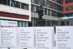 Inklusion-Aktionstag an der Uni Leipzig. Foto: René Loch